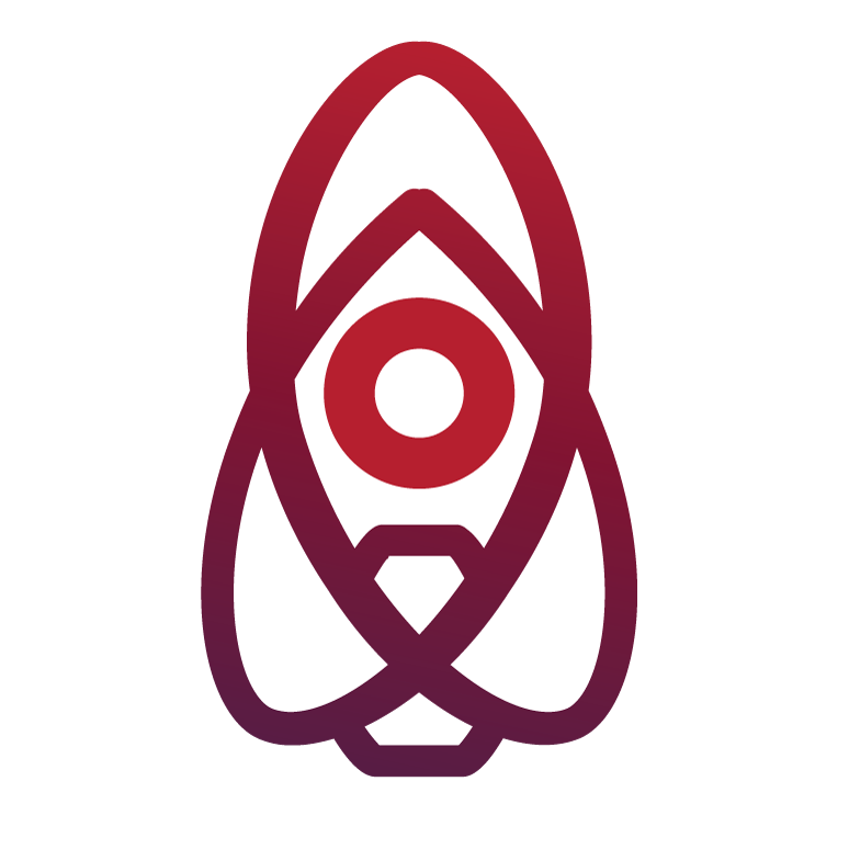 NUCLUX logo - a man in a rocket